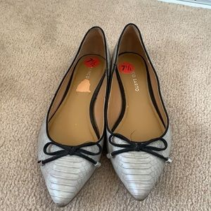 FRANCO SARTO | 7.5 | Grey Avice Flats with Tie